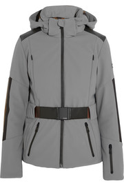 Fendi Leather-trimmed padded shell ski jacket