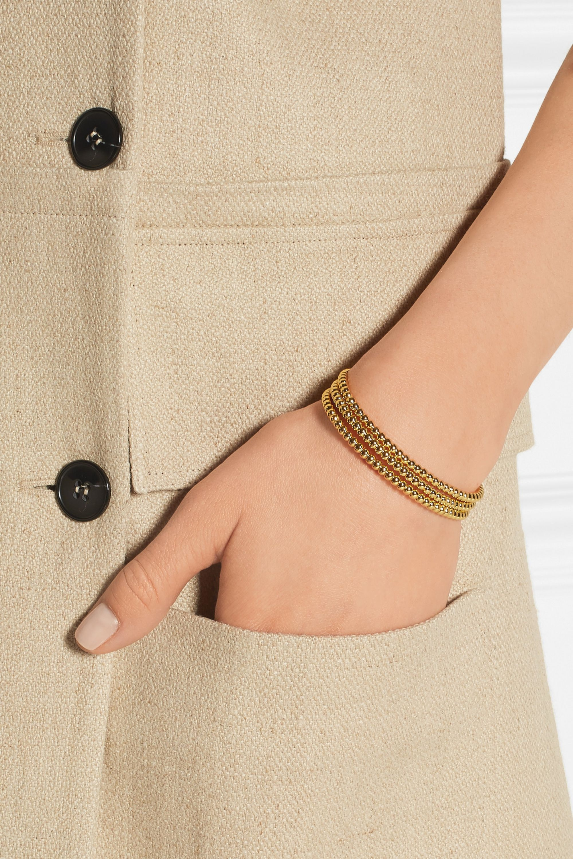 Arme De L'Amour Set of three gold-plated bracelets