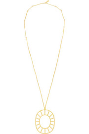 Arme De L'Amour Gold-plated medallion necklace