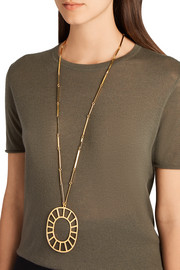 Gold-plated medallion necklace