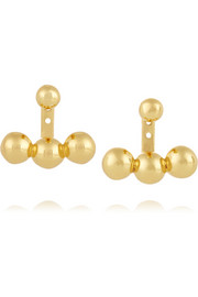 Sphere Anchor gold-plated earrings