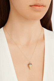 Snow Cone 14-karat gold multi-stone necklace