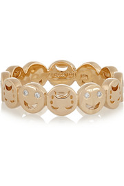 Happy Sad 14-karat gold diamond ring