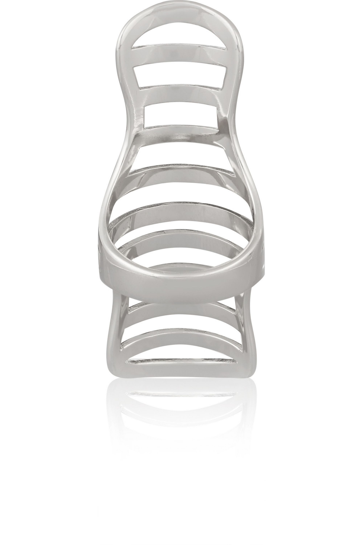 Arme De L'Amour Doll Stripe silver ring