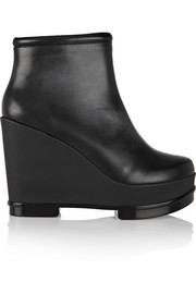 Sarla leather wedge ankle boots