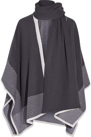Wool and cashmere-blend poncho