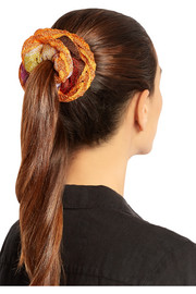 Missoni Metallic crochet-knit hair tie