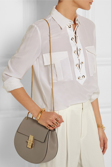 chloe marcie gray - Chlo�� | Drew medium textured-leather shoulder bag | NET-A-PORTER.COM