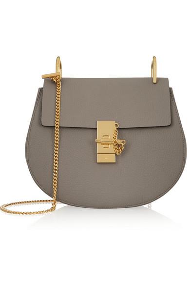 4ffdf9bb92198 Chloé | Drew medium textured-leather shoulder bag | NET-A-PORTER.COM