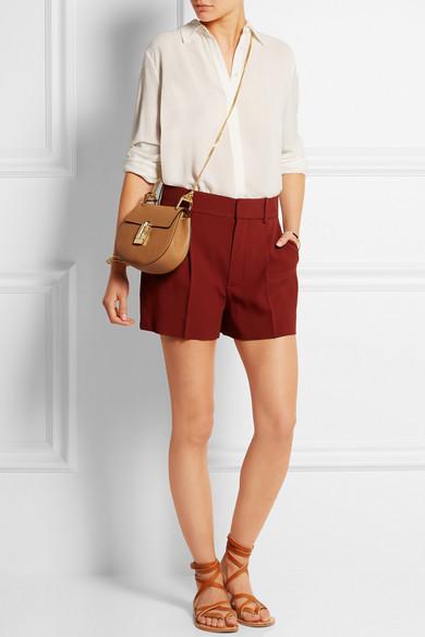 Chlo�� | Drew mini textured-leather shoulder bag | NET-A-PORTER.COM