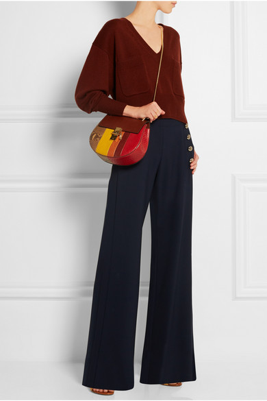 chleo bags - Chlo�� | Drew small python and leather shoulder bag | NET-A-PORTER.COM