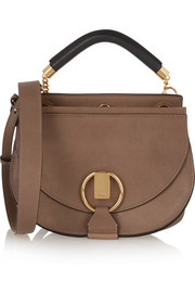 Goldie small leather and suede shoulder bag