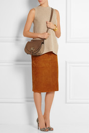 Chloé Goldie small leather and suede shoulder bag