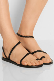 Eleftheria braided leather sandals