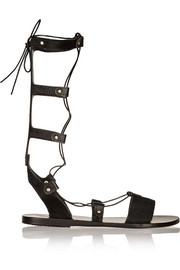Thebes lace-up calf hair sandals