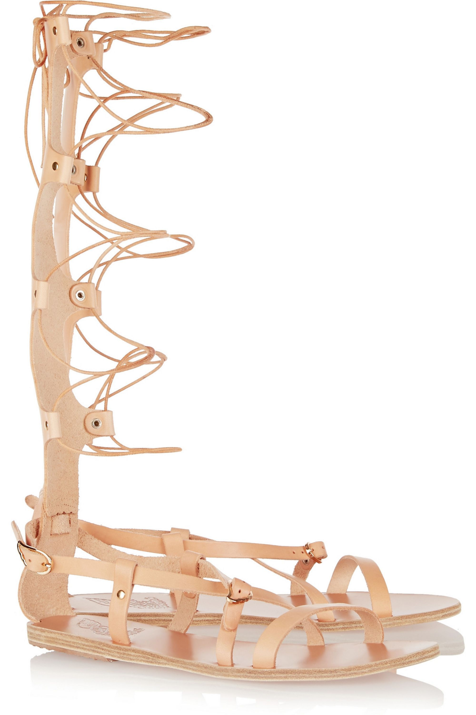 Ancient Greek Sandals Sofia High lace-up leather sandals