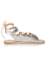 Antigone glittered leather sandals