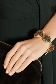 Gucci Gold-plated Swarovski crystal horsebit bracelet