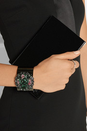 Gucci Ruthenium-plated Swarovski crystal cuff
