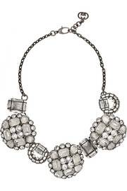 Palladium-plated Swarovski crystal necklace