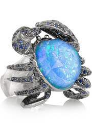 Jewels Verne 18-karat white gold multi-stone ring