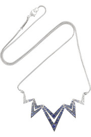 Lady Stardust 18-karat white gold, sapphire and diamond necklace