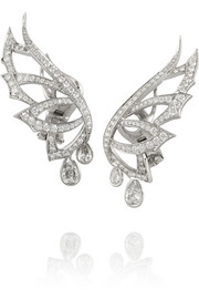 Magnipheasant 18-karat white gold diamond earrings