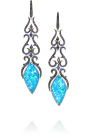 Belle Epoque 18-karat white gold multi-stone earrings