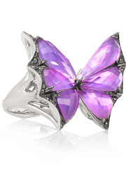 Fly By Night 18-karat white gold multi-stone ring
