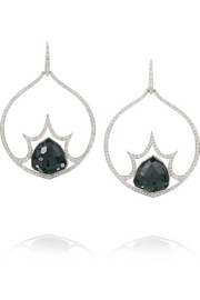 Murder She Wrote Big Bang 18-karat white gold multi-stone earrings