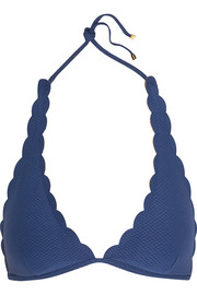 Baja scalloped halterneck bikini top