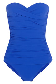 Bordeaux ruched swimsuit
