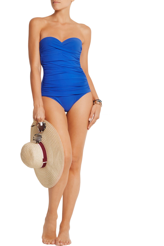 Heidi Klein Bordeaux ruched swimsuit