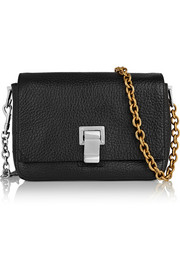 Courier extra small textured-leather shoulder bag