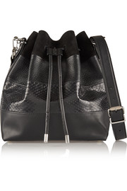 Proenza Schouler Bucket paneled suede, leather and ayers shoulder bag