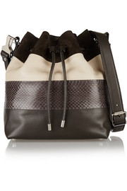 Proenza Schouler Bucket paneled leather and ayers shoulder bag