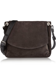 Prospect suede and leather shoulder bag