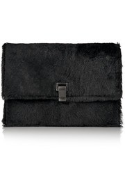 Proenza Schouler The Lunch Bag calf hair clutch