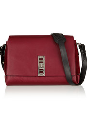 Elliot leather and suede shoulder bag