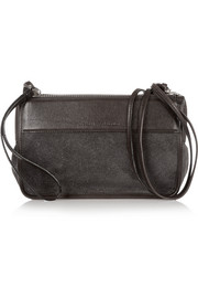 PS Z suede and textured-leather shoulder bag