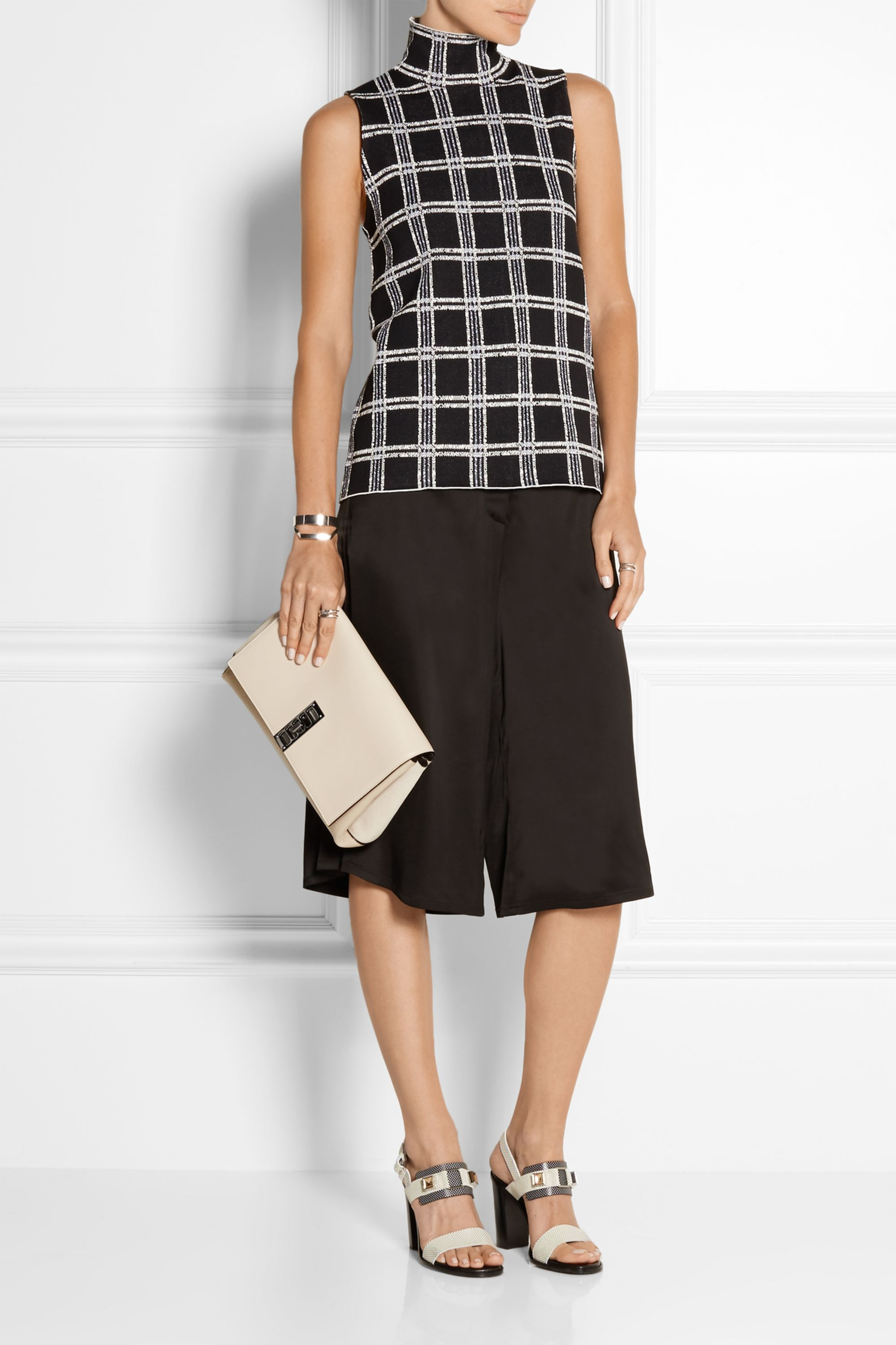 Proenza Schouler Elliot textured-leather and suede clutch