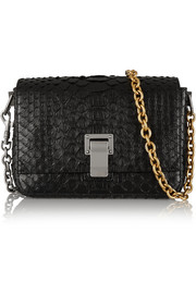 Proenza Schouler PS Courier small python shoulder bag