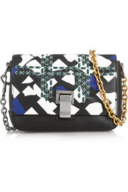 Proenza Schouler Courier small printed leather shoulder bag