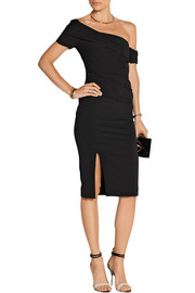 Haney The Emily off-the-shoulder stretch-cady dress
