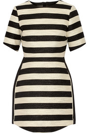 Haney The Rochelle striped metallic cotton-blend mini dress