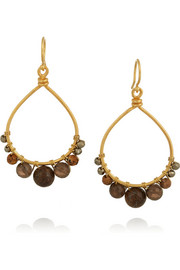 Gold-plated bronzite earrings