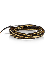 Chan Luu Gold-plated and leather five wrap bracelet