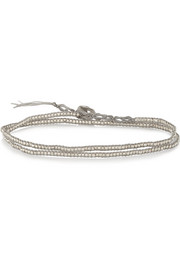 Chan Luu Silver beaded wrap anklet