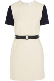 Belted cloqu� mini dress
