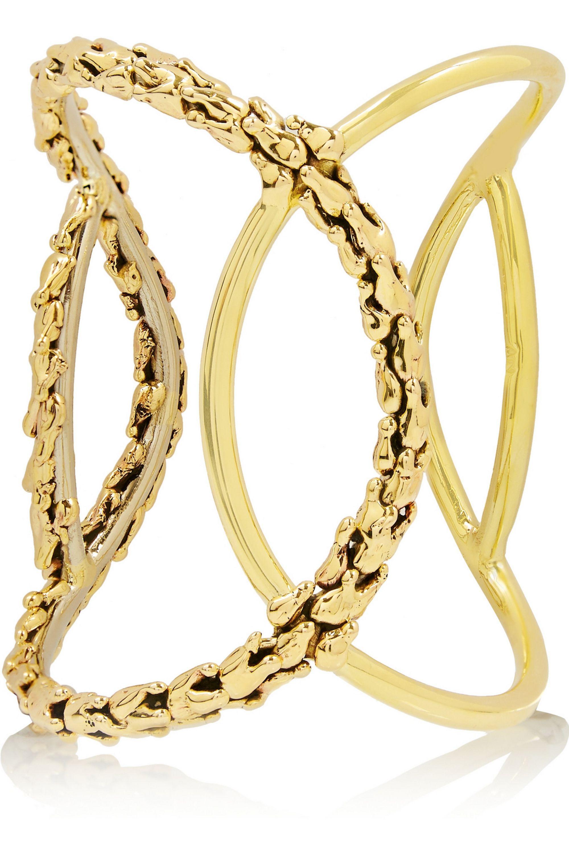 Anndra Neen Vine gold-tone cuff